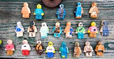 Salt Dough lego guys - use a lego mini figure ice cube tray with salt dough, let dry, and then let the kids paint