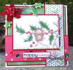 Holiday House Mouse Fun by Lorraine Aquilina for Simon Says Stamp.  Stamptember 2013