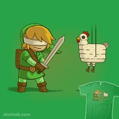Hylian Pinata Tshirt Print Design by Naolito The Legend Of Zelda, Gamer's Guide, Nintendo, Link Zelda, Geek Out, Illustrations, Pop Culture, Nerdy, Print Design