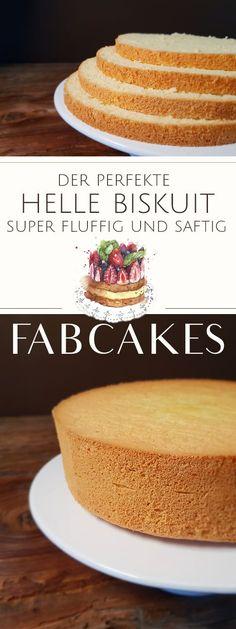 Light sponge cake - the basic recipe- Heller Biskuit – Das Grundrezept Bake the perfect sponge cake for your motif cake, cream cake or fruit cake in just 10 minutes. Step by step I will show you how easy it is! Dessert Simple, Dessert Bowls, Pie Dessert, Biscuits Keto, Baking Recipes, Cake Recipes, Dessert Presentation, Fab Cakes, Sponge Cake