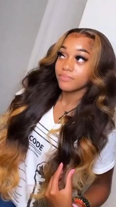 Birthday Hairstyles, Sew In Hairstyles, Black Girl Braided Hairstyles, Frontal Hairstyles, Baddie Hairstyles, Homecoming Hairstyles, Hairstyles For Black Women, Homecoming Hair Down, Black Girl Braids
