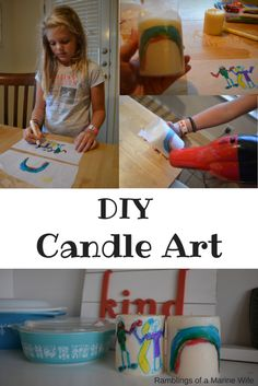DIY Candle Art for K