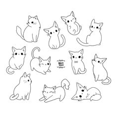 [뽐순] Cat Illustrations (Coloring Pages) / Cat Colors / Handmade . - (뽐순) Cat Illustrations (Coloring Pages) / Cat Colors / Handmade … – … – New – - Animal Sketches, Animal Drawings, Kawaii Drawings, Cute Drawings, Music Drawings, Cute Cat Drawing, Simple Cat Drawing, Cat Sketch, Cat Tattoo