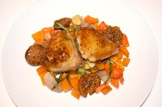 Fig Glazed Chicken with Roasted Sweet Potato