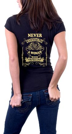 NEVER UNDERESTIMATE A WOMAN WITH A PRAYER & A PLAN. Visit us on tmishirts.com