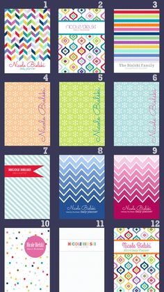 Personalized Custom Planner Covers PDF by CleanLifeandHome on Etsy