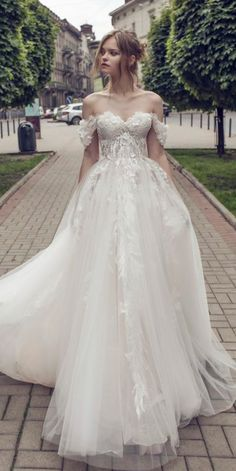 41 Best Off the Shoulder Wedding Dresses, wedding dress ,off the shoulder wedding gown Romantic Off The Shoulder Wedding Dress,Custom Made, Bridal Wedding Gown Celebrity Wedding Dresses, Luxury Wedding Dress, White Wedding Dresses, Celebrity Weddings, Bridal Dresses, Wedding Gowns, Elegant Dresses, Tulle Wedding, Vintage Dresses