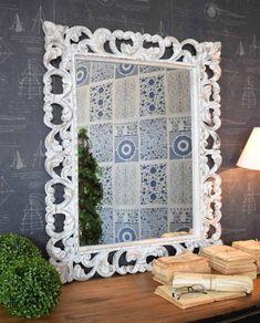 Specchio white antique varie misure - Mobilia Store Home & Favours Bloomsbury, Teak, Favors, Antiques, Frame, Store, Home Decor, Products, Antiquities