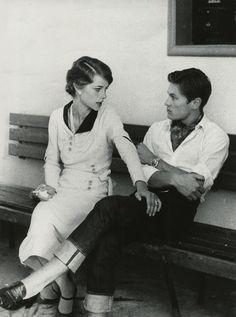 Charlotte Rampling & Helmut Berger in Jardin des Finzi-Contini, 1968. Directed by Vittorio De Sica.