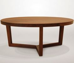 Finn solid wood round coffee table modern occasional for Coffee table 40 x 24