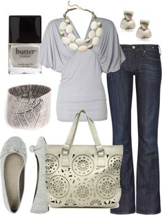 grey & white outfit
