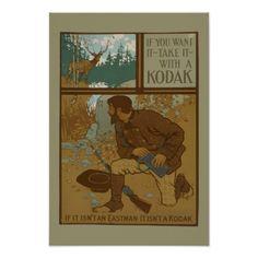 NYPL | Kodak Vintage Advertisement Poster