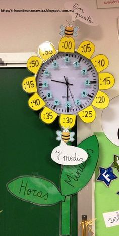 This Pin was discovered by ÉvaThese pictures remind me when i was in elementary school, my mother helped me more .Corner of a teacher: wristwatchesThis math facts activity withI love how this teacher put the multiplication facts for around the clock, too 1st Grade Math, Kindergarten Math, Primary Education, Kids Education, English Activities, Preschool Activities, School Classroom, Classroom Decor, Math For Kids