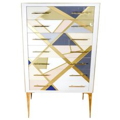 Chest of Seven Drawers All in Teinted Glass | 1stdibs.com