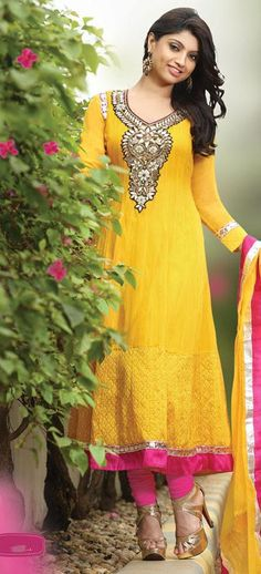 Daniella: Full sleeve Anarkali Style Salwar Kameez