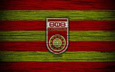 Download wallpapers FC Ufa, 4k, wooden texture, Russian Premier League, soccer, football club, Russia, Ufa, logo, art, football, Ufa FC