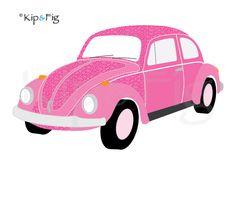 Volkswagon Beetle car applique PDF template - applique pattern design £2.00, via Etsy. © Kip & Fig 2012