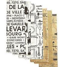 I love the Set of 10 Printed Tissue Sheets, Vintage Frames on markandgraham.com