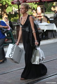 Amber Heard - Black Maxi Dress  / Silver Bangles