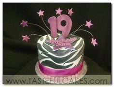 Love The Big Number And Stars 19th Birthday Cakes Krystal Sweet Sixteen Cake