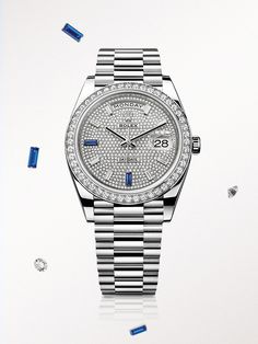 a1105d03144 Rolex Watches New Collection   Illustration Description The Rolex Day-Date  40 in white gold