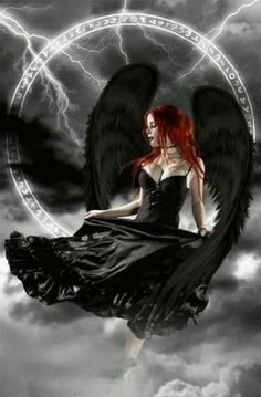 Dnd Characters, Fantasy Characters, Lord Of Shadows, Gothic Fantasy Art, Black Wings, Fallen Angels, Angels And Demons, Gothic Images, Dark Art, Drawings, ...