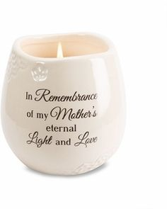 """Mother Memorial Candle - """"In Remembrance of my Mother's eternal Light and Love"""". Ideal sympathy gift for those grieving the loss of a beloved mother. Soy Wax Candles, Candle Wax, Scented Candles, Homemade Candles, In Remembrance Of Me, Remembrance Gifts, Memorial Gifts, Memorial Ideas, Memorial Candles"""