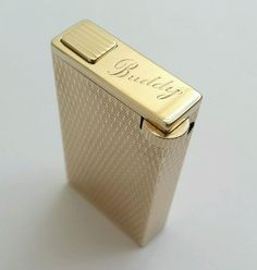 VERY RARE 9K solid gold cased, engine turned lighter by Kutchinsky, England 1962 [SOLD]