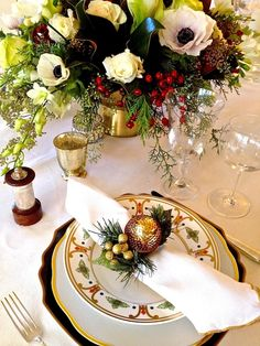 From my home to yours, wishing you all a very Merry Christmas! Outdoor Table Settings, Elegant Table Settings, Christmas Table Settings, Christmas Tablescapes, Christmas Decorations, Table Decorations, Holiday Decor, Christmas Post, Christmas Makes