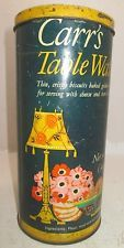 """VINTAGE LITHO PRINT TIN """"CARR'S TABLE WATER ENGLISH BISCUITS"""" ENGLAND"""