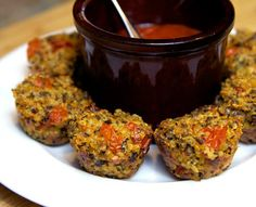 Pin for Later: 13 Healthy Pizza Recipes You Will Want to Make Immediately Quinoa Pizza Bites These quinoa pizza bites are a gluten-free way to get your pizza fix in a single bite. Serve alongside spicy marinara sauce.