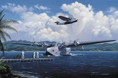Tahiti Clippers by Stan Stokes.    Juan Trippe left Yale University in 1917 to enlist in the U.S. Navy. Trippe became a Naval Aviator on June 17, 1918. With the War nearing its end Trippe returned to Yale where he founded the Yale Flying Club. Writing in the May 1919 edition of The Yale Graphic, Juan speculated that the new Navy NC flying boats being introduced might be the first to successfully cross the Atlantic, and that eventually commercial flights across the Atlantic would be, a…