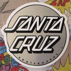 underground bands of the 80s Gorilla Biscuits   SANTA CRUZ ステッカー LOGO