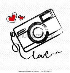 Items similar to Wall Sticker Vinyl Decal Camera Photography Love Art Decor on Etsy Camera Drawing, Camera Art, Camera Life, Wall Painting Decor, Art Decor, Camera Photography, Love Photography, Photography Illustration, Cute Tattoos