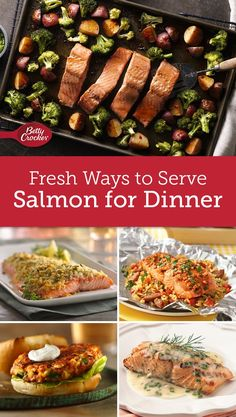 16 Fresh Ways to Serve Salmon for Dinner Easy Salmon Recipes, Fish Recipes, Seafood Recipes, New Recipes, Favorite Recipes, Healthy Recipes, Recipies, Delicious Recipes, Dinner Recipes