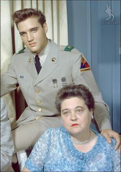 GLADYS PRESLEY AND ELVIS
