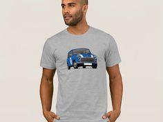 Retro Mini classic, car from the Great Britain. Mini Morris, Britain, Classic Cars, Stripes, Retro, Mens Tops, T Shirt, Fashion, Moda