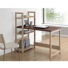 Talk about flexibility. Our Hypercube Writing Desk offers open-view storage in just about any way you can imagine. Stack items horizontally, vertically or in-between using the attached bookshelf.