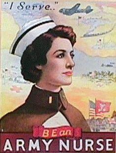 Army nurse vintage poster