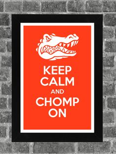 Keep Calm Florida Gators NCAA Print Art 11x17 by PortlandInkery, $14.99