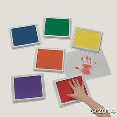 Cool Classic Giant Color Stamp Pad Set yayyyyy no more paint messes @orientaltrading !