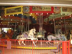 the oldest carousel in canada...just 5 cents a ride!  port dalhousie, ontario