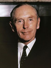 The Right Honourable Sir Alec Douglas-Home KT Earl of Home until 1963 MP for Kinross and Western Perthshire from 1963 (1903–1995) PM 1963-4