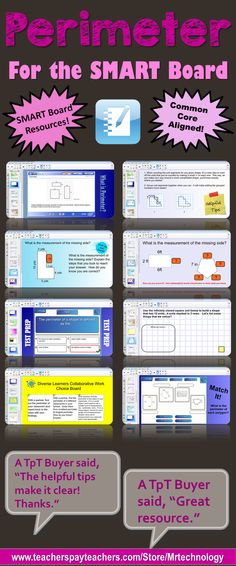This interactive Common Core SMART Board lesson exposes students to the ideology of perimeter through the use of real-world problems and interactive activities. Notebook file also includes 'Find the Missing Side' slides, a Math Journal prompt, and a 'Challenge / Extension' activity for additional synthesis and understanding of perimeter with higher order thinking questions embedded throughout. A Diverse Learners Choice Board has just been added!
