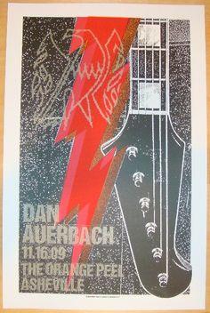 2009 Dan Auerbach - Asheville Concert Poster by Print Mafia