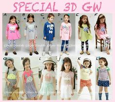 GW3D GIRLS SERIES SIZE 95-140 FIT TO 2T-7T