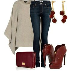 Love the Burgundy bootys