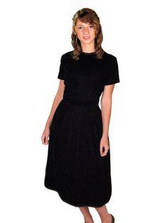 Vintage Suzy Perette Dress Black Silk Velvet Cocktail Dress 1950s 34-24-42 - The Best Vintage Clothing  - 1