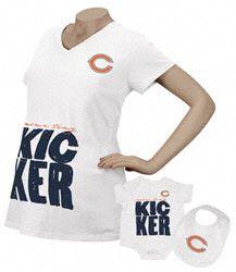 Chicago Bears Women's Kicker Maternity T-Shirt/Infant Set