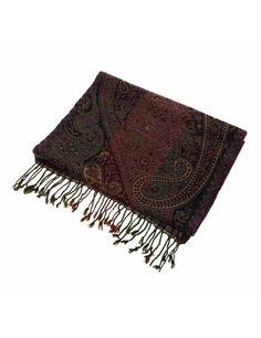 Idée cadeau Homme - Echarpe en laine motifs floraux Paisley: Amazon.fr: Vêtements et accessoires